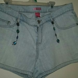 Pants - Light wash jean shorts